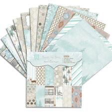 12x Xmas Snow Paper Pad Scrapbooking Planner Card Album Making Gift DIY Crafts