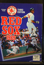 1989 RED SOX PROGRAM 3RD EDITION SCORECARD MILWAUKEE BREWERS UNSCORED NM