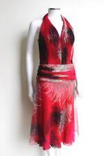 GIANNI VERSACE RUNWAY Fall 2001 RARE Feather Print Silk Dress IT 40 UK 8 US 4