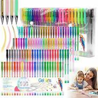 100 Colours Glitter Gel Pen Set Neon Glitter Colouring Pens Art Marker for Adult