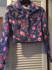 Juniors Arizona Jean Co Floral Jean Jacket Xs