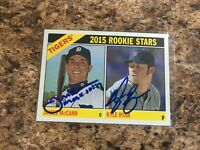 James McCann Kyle Ryan 2015 Topps Heritage Rc Detroit Tigers Chicago Cubs Sox