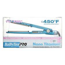 NEW!!! BABYLISS PRO NANO TITANIUM 1 3/4'' IONIC 450F HAIR STRAIGHTENER FLAT IRON