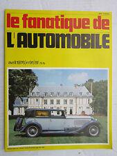 Le Fanatique de l'Automobile n°91 /CYCLECAR KIDDY/DELAHAYE 135/FORD -MONTIER