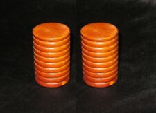 NEW Handcrafted Wooden Ridged Shaker Pair kids percussion instrument