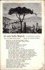 Feldpostkarte 2. WK 1941 ab Stralsund Stempel, Musik-Lied-AK O mia bella Napoli