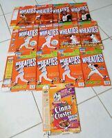 Vintage General Mills, Post Cereal Box Lot of 13 Wheaties Cinna-Cluster MLB