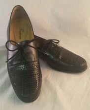 af39b12f7da Trotters Lizzies Black Leather Lace Up Woven Oxfords Shoes Sz 9.5 EU 42