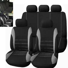 Auto Sitzbezug Sitzbezüge Schonbezüge für Universal Auto 9 Set Schwarz