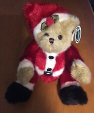 "The Bearington Collection Bear Plush Named Santa Beary 12"""