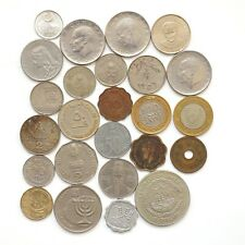 Lot of 25 World Coins (Asia, Middle East, Africa)