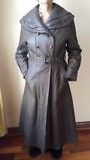 LADIES GENUINE LAMB LEATHER TRENCH COAT FULLY LINED MADE IN TURKEY, SIZE S,BROWN
