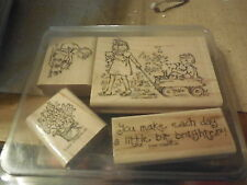 Rubber Stamp Set  2001  Stampin Up - FRIENDSHIPS GROW- Set of 4