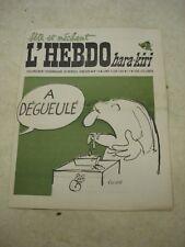 L'HEBDO HARA-KIRI n°19- 09/06/1969