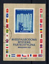 Polonia sellos 1955 mundo festivales Varsovia mi.nr.941 bloque 18