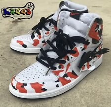 "Retro Jordan 1  High Og ""Koi Fish"" Custom  By Lacedkingz Restorations"