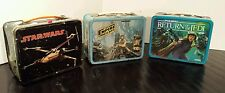 Vtg Star Wars 1977, 1980, 1983 Lunchboxes W/3 Thermos