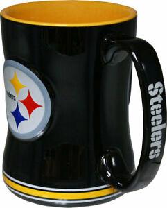 Pittsburgh Steelers 14oz Sculpted Relief Coffee Mug NFL