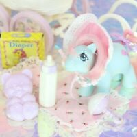 Vintage My Little Pony Baby CUDDLES and BUGGY Stroller Accessories G1 MLP H893