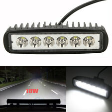 6 INCH 18W LED WORK LIGHT BAR SPOT OFFROAD ATV FOG TRUCK LAMP 4WD 12V 6""