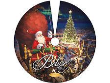 "Lionel 9-33075 The Polar Express 'Santa In Sleigh' Tree Skirt 48.5"" diameter"