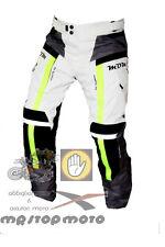Pantaloni moto MDM 3 strati grey nero fluo turismo impermeabili ventilati >XL/52