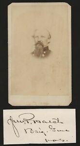 Civil War Union General John P Hatch CDV and Clipped Autograph MOH