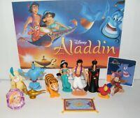 Disney Aladdin Movie Figure Set of 10 Deluxe with Bonus Toy Ring and Fun Sticker