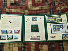 """Postal Commemorative Society Official Tributes to """"Peanuts"""" coin/stamps binder"""