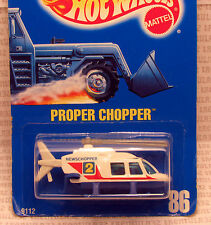 SPEED POINTS PROPPER CHOPPER NEWSCHOPPER 2 HELICOPTER #86 BLUE CARD HOT WHEELS