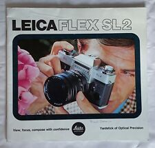 Leicaflex SL2, 8 x 8 In  40 Page Product Brochure
