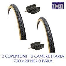 """2 Copertoni 2 Camere d'aria 28"""" da CITY BIKE 700 x 28 bicicletta pneumatico bici"""