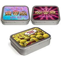Personalised Emoji Tobacco Tin 2oz Baccy Pill Storage Cigarette Birthday Gift