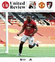 Manchester United v Bournemouth 04/07/20 Official Matchday Programme
