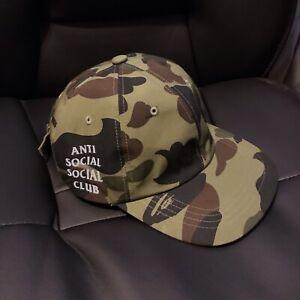 Anti Social Social Club ASSC Logo Mil Spec Olive Camo Cap Hat