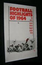 Original FOOTBALL HIGHLIGHTS OF 1964 Linen Backed 1 Sheet THEATRE NEWSREELS