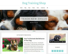[NEW DESIGN] * DOG TRAINING * store blog website business for sale AUTO CONTENT