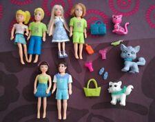 Lot Polly pocket fashion,poupées, vêtements,accessoires,..