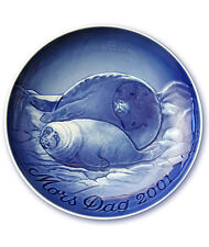 Bing & Grondahl 2001 Mother's Day Plate Seal with Pup New In Box Mint Condition