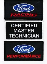 FORD RACING CERTIFIED MASTER TECHNICIAN SEW/IRON ON PATCH EMBROIDERED PERFORMANC