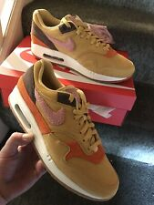 MENS NIKE AIR MAX 1 ,,CREPE SOLE'' SIZE UK 8 US 9.EU 42.5 /Wheat Gold/Rust Pink/