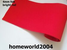 FELT FABRIC 4mm thick 100cm wide sold by metre BRIGHT RED