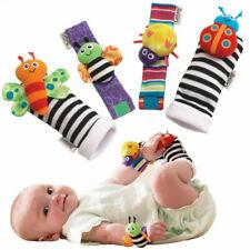 Babysocken Rassel Set Baby Sensory Toys Fußsocken Handgelenk Rasseln Armband BN