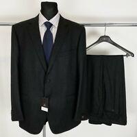 RRP €1695 Men's Z Zegna Dark Grey 100% Wool Suit EUR 52 54 60 US/UK 42 44 50