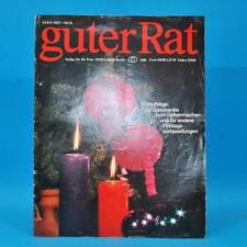 Guter Rat 4-1982 Verlag für die Frau DDR Weihnachten Klöße Paravent Silvester G