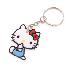Blue cloth Hello Kitty  Keychain Phone Charm Bag soft silica gel collection gift