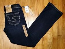 Silver Suki Boot Cut Jeans Size 27 L 33 Mid Rise Super Stretch New With Tags