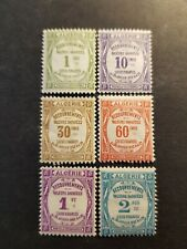 FRANCE COLONIE ALGERIE TIMBRE TAXE N°15 A 20 NEUF * MH 1926 COTE 50€