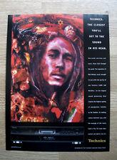 TECHNICS - BOB MARLEY - 1999 VINTAGE ORIGINAL MAGAZINE HIFI ADVERT