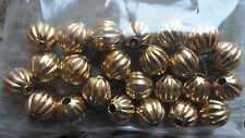 Round Metal Beads 10mm Syntho Gold plated 4057 (2 dz) Beading Beads Corrugated